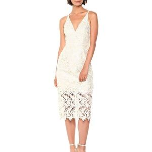 NWOT cream and ivory lace dress